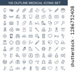 medical icons. trendy 100... | Shutterstock .eps vector #1286752408