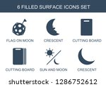 6 surface icons. trendy surface ... | Shutterstock .eps vector #1286752612
