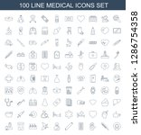 100 medical icons. trendy... | Shutterstock .eps vector #1286754358
