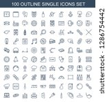 single icons. trendy 100 single ... | Shutterstock .eps vector #1286754442