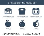 dieting icons. trendy 6 dieting ... | Shutterstock .eps vector #1286756575