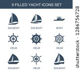 yacht icons. trendy 9 yacht... | Shutterstock .eps vector #1286756728