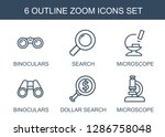 6 zoom icons. trendy zoom icons ... | Shutterstock .eps vector #1286758048