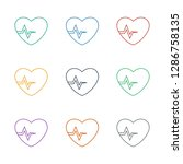 heartbeat icon white background.... | Shutterstock .eps vector #1286758135
