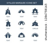 marquee icons. trendy 9 marquee ... | Shutterstock .eps vector #1286758165