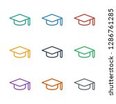 graduation hat icon white... | Shutterstock .eps vector #1286761285