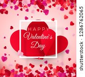 valentines day postcard. two... | Shutterstock .eps vector #1286762065