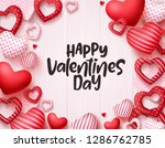 valentines day hearts vector... | Shutterstock .eps vector #1286762785