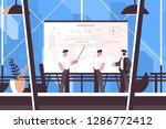 man engineer showing on... | Shutterstock .eps vector #1286772412