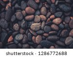 Pebbles Stone Background With...