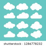 clouds icon   vector...   Shutterstock .eps vector #1286778232