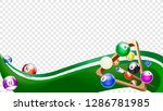 billiard wave green. tv size...   Shutterstock .eps vector #1286781985