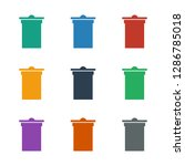 trash bin icon white background....   Shutterstock .eps vector #1286785018