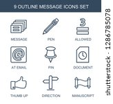 message icons. trendy 9 message ... | Shutterstock .eps vector #1286785078