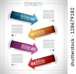 infographic template design  ...   Shutterstock .eps vector #128679182