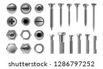 metal screw set vector.... | Shutterstock .eps vector #1286797252