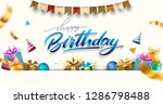 happy birthday typography... | Shutterstock .eps vector #1286798488