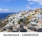 santorini island  greece  ... | Shutterstock . vector #1286802025