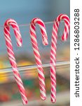 sweet candy stick at birthday... | Shutterstock . vector #1286803288