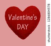 valentines day   text on red... | Shutterstock . vector #1286804578