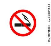 no smoking symbol black... | Shutterstock .eps vector #1286804665
