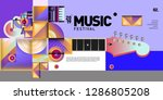 vector colorful music festival... | Shutterstock .eps vector #1286805208
