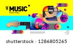 vector colorful music festival... | Shutterstock .eps vector #1286805265