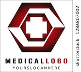 medical logo design vector eps10 | Shutterstock .eps vector #1286807002