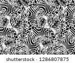 leopard design pattern | Shutterstock . vector #1286807875