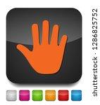 vector stop sign   hand... | Shutterstock .eps vector #1286825752