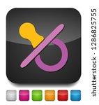 vector child pacifier...   Shutterstock .eps vector #1286825755
