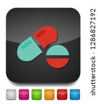vector medical pills   medicine ... | Shutterstock .eps vector #1286827192