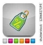 discount percent sign  vector... | Shutterstock .eps vector #1286827195