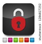 lock icon  vector padlock  ... | Shutterstock .eps vector #1286827252