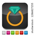 vector diamond ring   wedding... | Shutterstock .eps vector #1286827255