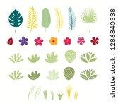 set of tropical plants elements ... | Shutterstock .eps vector #1286840338