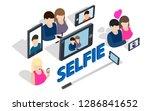 selfie clip art. isometric clip ...   Shutterstock .eps vector #1286841652
