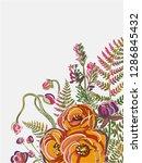 garden yellow peony flower...   Shutterstock .eps vector #1286845432