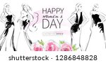 happy women's day greeting card ... | Shutterstock .eps vector #1286848828