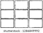 set of frames in grunge style | Shutterstock .eps vector #1286849992