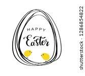 vector line style easter eggs... | Shutterstock .eps vector #1286854822