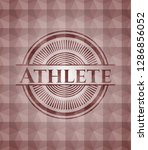 athlete red seamless badge with ... | Shutterstock .eps vector #1286856052
