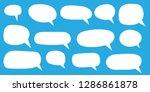 set of speech bubbles. blank... | Shutterstock .eps vector #1286861878