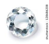 shiny white diamond illustration   Shutterstock .eps vector #128686208