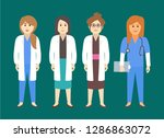 female medical staff vector... | Shutterstock .eps vector #1286863072