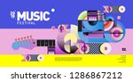 vector colorful music festival... | Shutterstock .eps vector #1286867212
