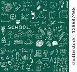 school doodle texture | Shutterstock . vector #128687468