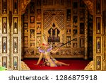 art culture thailand dancing in ... | Shutterstock . vector #1286875918