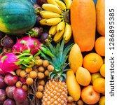 set assortment fresh organic... | Shutterstock . vector #1286895385