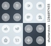 happy icons line style set with ... | Shutterstock .eps vector #1286897455